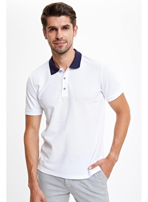 DeFacto Polo Yaka Slim Fit Basic Tişört